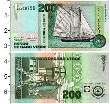 Изображение Банкноты Кабо-Верде 200 эскудо 1992  UNC