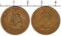 Изображение Монеты Карибы 5 центов 1955 Латунь XF-