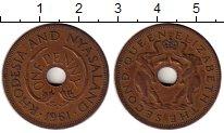 Изображение Монеты Великобритания Родезия 1 пенни 1961 Бронза XF