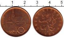 Изображение Монеты Чехия 10 крон 1993 Бронза XF+