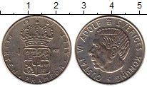 Изображение Монеты Швеция 1 крона 1957 Серебро XF