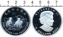 Монета Канада 5 долларов Серебро 2004 Proof фото