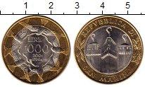 Изображение Монеты Сан-Марино 1000 лир 2001 Биметалл UNC-