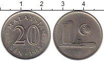 Изображение Монеты Малайзия 20 центов 1982 Медно-никель UNC-