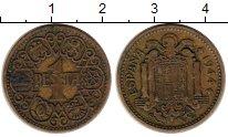 Изображение Монеты Испания 1 песета 1944 Бронза XF