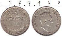 Изображение Монеты Колумбия 50 сентаво 1912 Серебро XF-