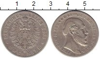 Изображение Монеты Германия Мекленбург-Шверин 2 марки 1876 Серебро XF