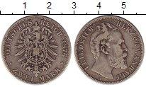 Изображение Монеты Германия Анхальт 2 марки 1876 Серебро XF