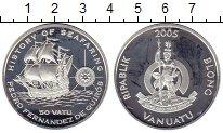 Изображение Монеты Вануату 50 вату 2005 Серебро Proof-
