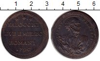 Изображение Монеты Ватикан 2 1/2 байоччи 1796 Медь XF+