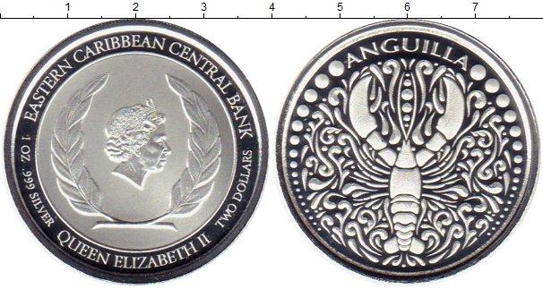 Картинка Мелочь Карибы 2 доллара Серебро 2019