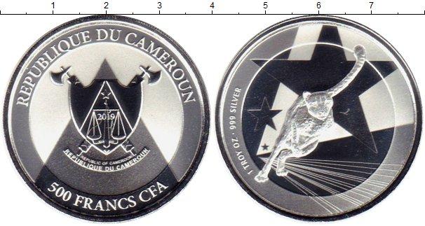 Картинка Мелочь Камерун 500 франков Серебро 2019