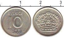 Изображение Монеты Швеция 10 эре 1960 Серебро XF