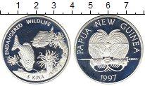 Изображение Монеты Папуа-Новая Гвинея 5 кин 1997 Серебро Proof-