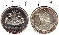 Изображение Монеты Лесото 10 лисенте 1966 Серебро Proof-