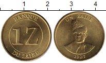 Изображение Монеты Конго Заир 1 заир 1987 Латунь UNC
