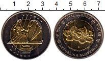 Изображение Монеты Словения 2 евро 2003 Биметалл UNC-