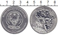 Изображение Монеты Руанда 50 франков 2017 Серебро UNC