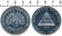 Изображение Монеты Никарагуа 100 кордоб 1975 Серебро UNC