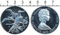 Изображение Монеты Виргинские острова 1 доллар 1973 Серебро Proof-
