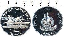 Изображение Монеты Вануату 50 вату 1992 Серебро Proof