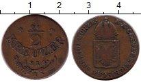 Изображение Монеты Австрия 1/2 крейцера 1816 Медь VF