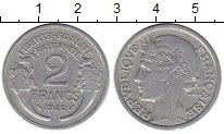 Изображение Монеты Франция 2 франка 1946 Алюминий XF