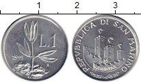 Изображение Монеты Сан-Марино 1 лира 1993 Алюминий UNC