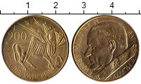 Изображение Монеты Ватикан 200 лир 1985 Латунь UNC