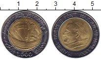 Изображение Монеты Ватикан 500 лир 1985 Биметалл UNC