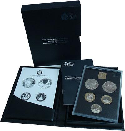 Изображение Подарочные монеты Великобритания Набор 2015 года 2015  Proof Набор из 5 юбилейных