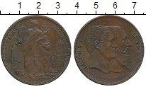 Изображение Монеты Бельгия 10 сантим 1880 Медь XF