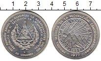 Изображение Монеты Сальвадор 25 колон 1977 Серебро UNC
