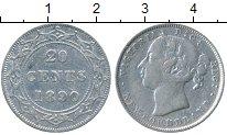 Изображение Монеты Ньюфаундленд 20 центов 1890 Серебро VF