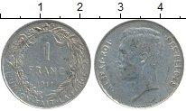 Изображение Монеты Бельгия 1 франк 1911 Серебро XF-