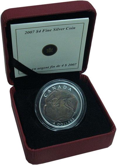Изображение Монеты Канада 4 доллара 2007 Серебро Proof- Ископаемое.<br>Ориг