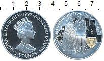 Монета Фолклендские острова 5 фунтов Серебро 1997 Proof фото