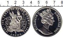 Монета Гибралтар 1 крона Серебро 1993 Proof фото