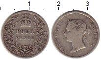 Изображение Монеты Великобритания Британская Гвиана 4 пенса 1894 Серебро VF+
