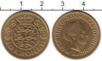 Изображение Монеты Дания 10 крон 1990 Латунь XF