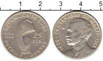 Изображение Монеты Куба 25 сентаво 1953 Серебро VF