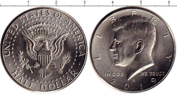 Картинка Мелочь США 1/2 доллара Медно-никель 2019