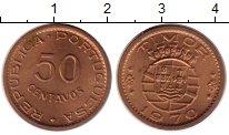 Изображение Монеты Тимор 50 сентаво 1970 Медь UNC-