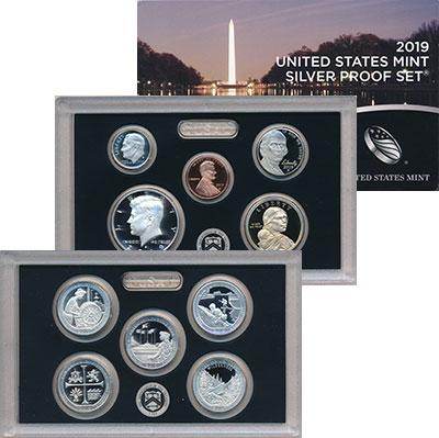 Изображение Подарочные монеты США  2019  Proof Набор из 10 монет 20