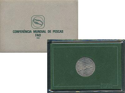Изображение Подарочные монеты Португалия 250 эскудо 1983 Медно-никель UNC Всемирная  Конференц