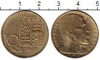 Изображение Монеты Чехия Чехословакия 10 крон 1993 Латунь UNC-