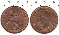 Изображение Монеты Великобритания 1 пенни 1949 Бронза XF+