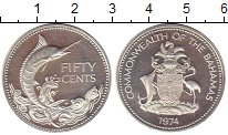 Изображение Монеты Багамские острова 50 центов 1974 Серебро Proof-