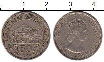 Изображение Монеты Великобритания Восточная Африка 50 центов 1962 Медно-никель XF
