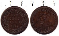 Изображение Монеты Канада 1 цент 1917 Бронза XF